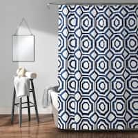 Lush Decor Octagon Blocks Shower Curtain