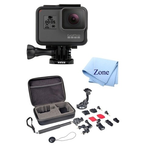 GoPro Hero 5 Action Camcorder Camera + Hard Case + Chest Strap Mount + Head Strap Mount + Accessories