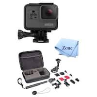 GoPro Hero 5 Action Camcorder Camera + Hard Case + Chest Strap Mount + Head Strap Mount + Accessories