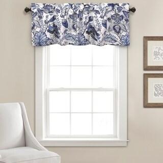 Lush Decor Cynthia Jacobean Room Darkening Window Curtain Valance