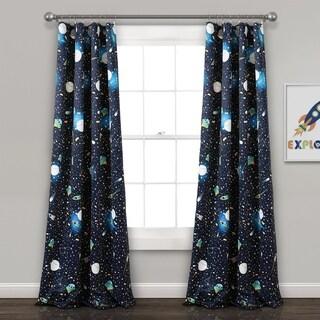 Lush Decor Universe Room Darkening Window Curtain Panel Pair