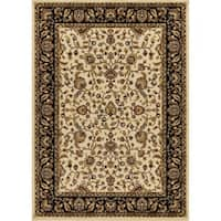 Mod-Arte, Crown Collection, CR01 Traditional Floral Design Bordered Area Rug