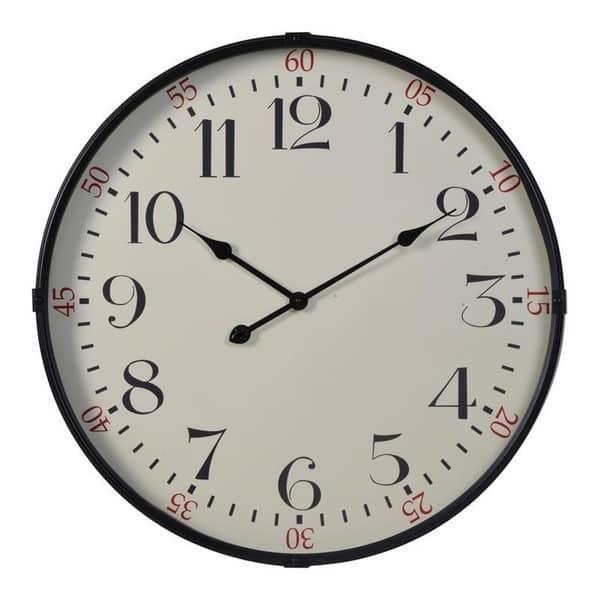 Sigmund Black 26 25 Diameter Kitchen Wall Clock On Sale Overstock 22543799
