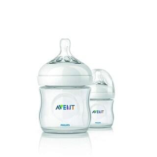 Philips AVENT SCF690/27 Natural Feeding 4 oz Bottle 0M+, 2 Count