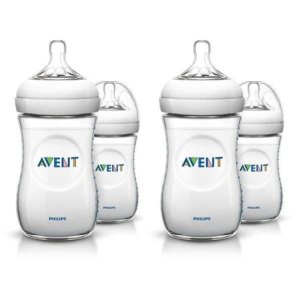 3 Count Philips AVENT BPA Free Natural Feeding 9 oz Bottle 1M+