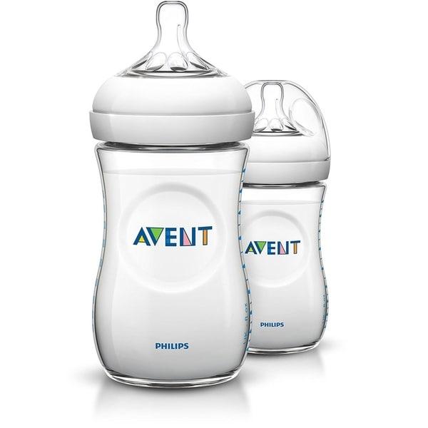 Philips AVENT SCF693/37 Natural Feeding 9 oz Bottle 1M+, 3 Count
