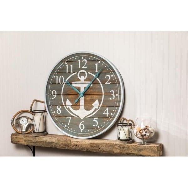 "Costa 32"" Diameter Nautical Wall Clock"