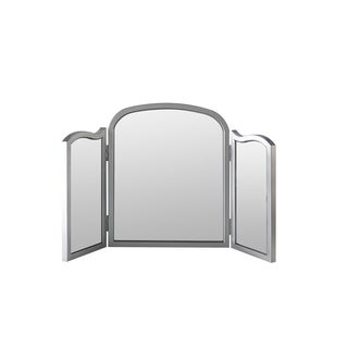 Best Quality Furniture Silver Tri-fold Vanity Mirror