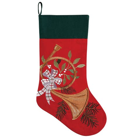 Holiday Horn Stocking
