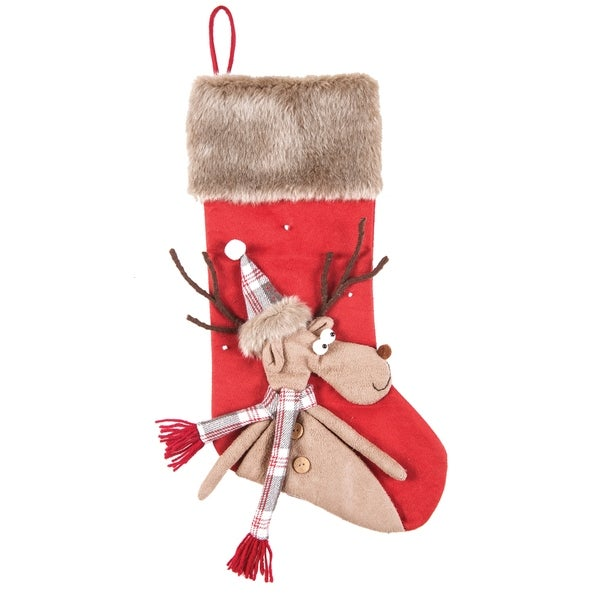 rudy the reindeer christmas stocking