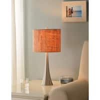 Bachman 20-inch Brushed Steel Accent Lamp - Cork Shade