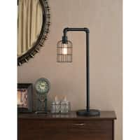 Rafi 29-inch Bronzed Graphite Table Lamp