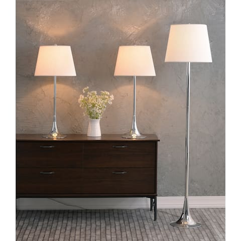 Theo Chrome 3-Piece Lamp Set