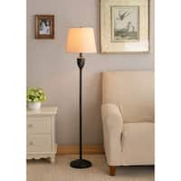 Harley 58-inch Oil Rubbed Bronze with Red Highlight Floor Lamp