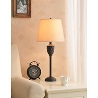 Harley 27-inch Oil Rubbed Bronze with Red Highlight Table Lamp