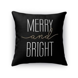 MERRY AND BRIGHT Throw Pillow By Kavka Designs