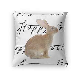 THE BROWN EASTER BUNNY Throw Pillow By Kavka Designs
