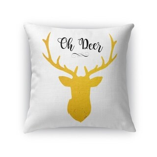 OH DEER Throw Pillow By Terri Ellis