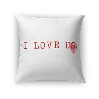 I LOVE US Throw Pillow By Kavka Designs