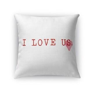 I LOVE US Throw Pillow By Terri Ellis