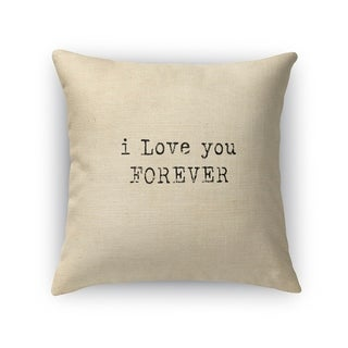 LOVE YOU FOREVER Throw Pillow By Kavka Designs