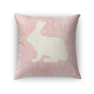 WHITE BUNNY Throw Pillow By Terri Ellis