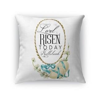 THE LORD IS RISEN TODAY Throw Pillow By Kavka Designs
