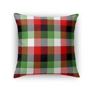 CHRISTMAS PLAID Throw Pillow By Kavka Designs
