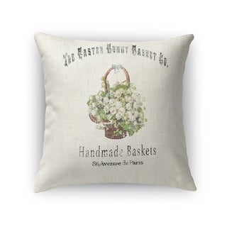 THE EASTER BUNNY BASKET Throw Pillow By Kavka Designs