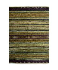 Hand-woven Sindhi Multi Cream Jute Rug (5' x 8') - 5' x 8' - Thumbnail 0