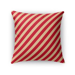RED STRIPES Throw Pillow By Kavka Designs