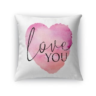 LOVE YOU Throw Pillow By Kavka Designs