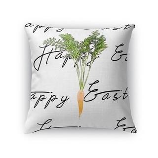 THE EASTER CARROT Throw Pillow By Terri Ellis