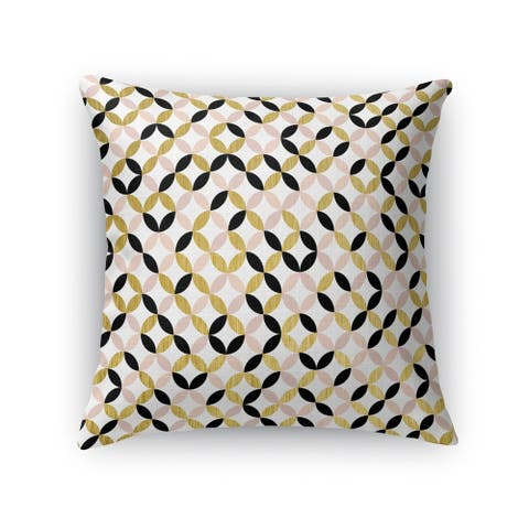 GOLD, BLACK ,PINK and WHITE 2 Throw Pillow by Kavka Designs