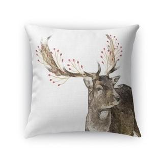 BERRY DEER Throw Pillow By Kavka Designs
