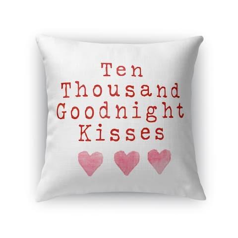 TEN THOUSAND GOODNIGHT KISSES Throw Pillow by Kavka Designs