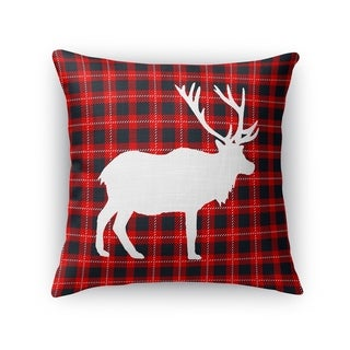 DEER PLAID Throw Pillow By Kavka Designs