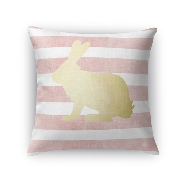 PINK BUNNY Throw Pillow By Kavka Designs