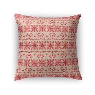 CHRISTMAS IN RED Throw Pillow By Kavka Designs