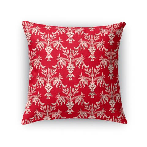CHRISTMAS IN PLAID RED 3 Throw Pillow By Kavka Designs