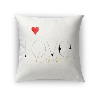 LOVE LOVE Throw Pillow By Kavka Designs