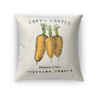HAPPY EASTER CARROTS Throw Pillow By Kavka Designs