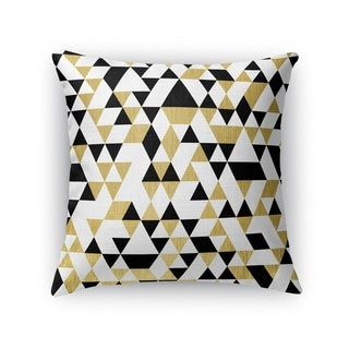 GOLD, BLACK AND WHITE 4 Throw Pillow By Kavka Designs