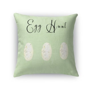 EGG HUNT GREEN Throw Pillow By Kavka Designs