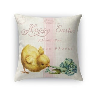 HAPPY EASTER WITH LITTLE CHIC Throw Pillow By Kavka Designs