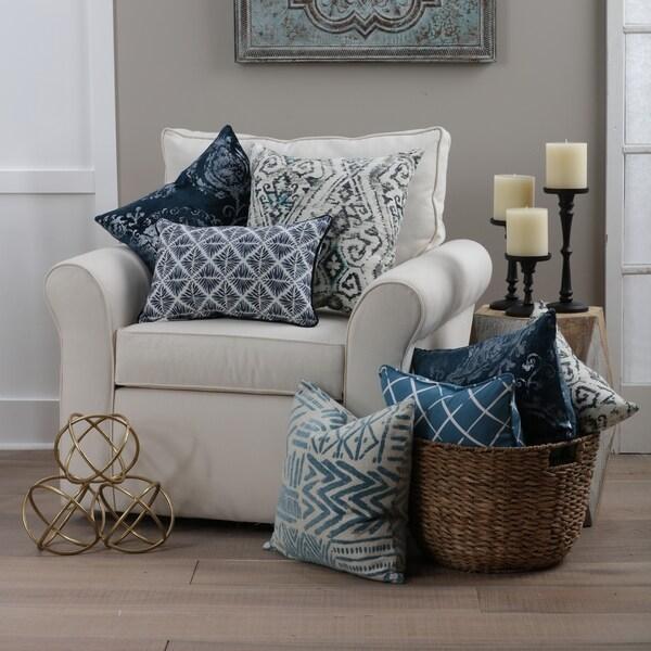 Blue Pillow Perfect Indoor Explorer Atlantic Rectangular Throw Pillow