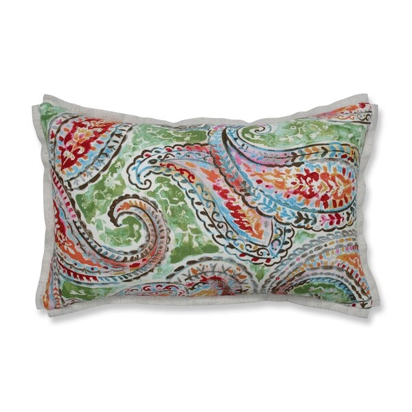 Pillow Perfect Indoor Bright & Lively Fiesta Rectangular Throw Pillow, 18.5 in. L X 11.5 in. W X 5 in. D