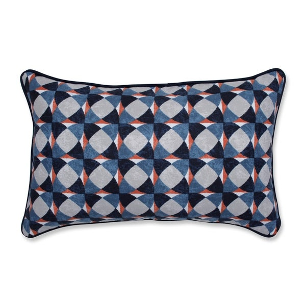 Pillow Perfect Indoor Echo Geo Admiral Rectangular Throw Pillow, 18.5 in. L X 11.5 in. W X 5 in. D