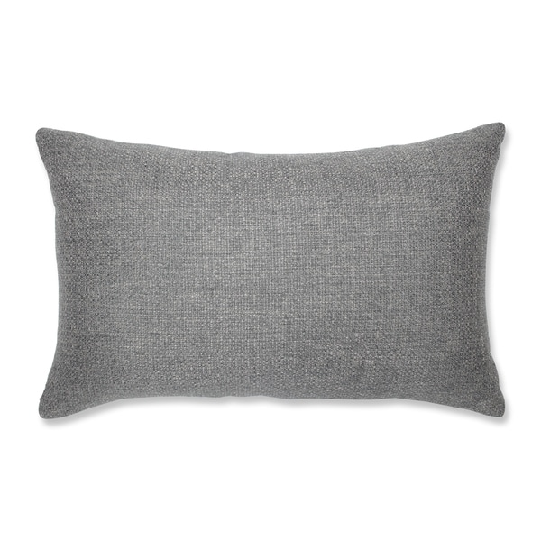 Pillow Perfect Indoor Sonoma Pewter Rectangular Throw Pillow, 18.5 in. L X 11.5 in. W X 5 in. D