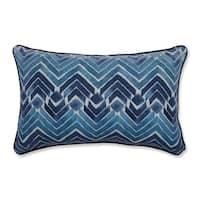 Pillow Perfect Indoor Zen Blend Indigo Rectangular Throw Pillow, 18.5 in. L X 11.5 in. W X 5 in. D